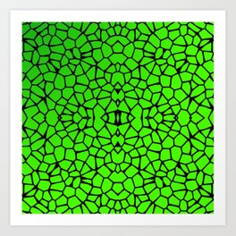 Cut Glass Mosaic Look Art Print