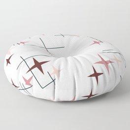 Mid Century Modern Stars (Pink) Floor Pillow