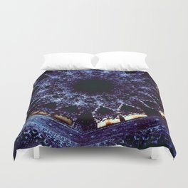 Looking Up Stalactite Dome, Alhambra Duvet Cover