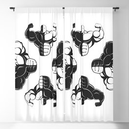 Bodybuilder symbol Blackout Curtain