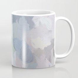 Navy Indigo Gray Blue Blush Pink Lavender Abstract Floral Spring Wall Art Coffee Mug