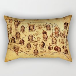 USA preventive war casualities Rectangular Pillow