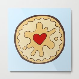 Jammy Dodger British Biscuit Metal Print