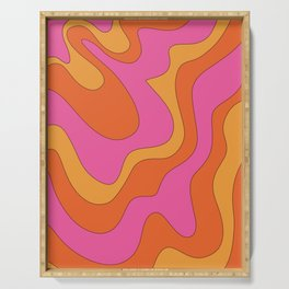 Groovy 60's and 70's Retro Pattern Serving Tray