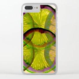 lemons pattern I Clear iPhone Case