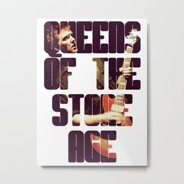 Queens Of The Stone Age QOTSA Font Josh Homme Guitar Metal Print