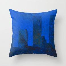 Blue City Throw Pillow