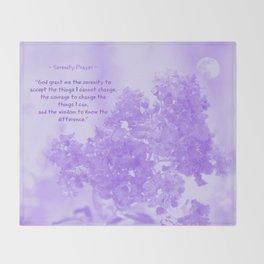 Serenity Prayer - V Throw Blanket