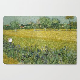 Field with Flowers near Arles by Vincent van Gogh Cutting Board
