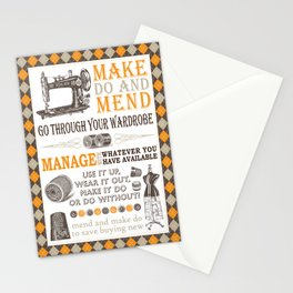Make Do and Mend Stationery Cards