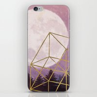 the moon iPhone & iPod Skins featuring moon by Laura Graves