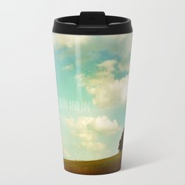 the road goes ever on Travel Mug