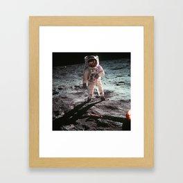 Moon landing 4 Framed Art Print