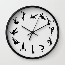B boy Dance Clock Wall Clock