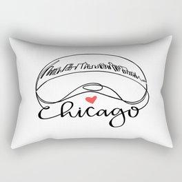 """Chicago Cloud Gate """"Bean"""" Rectangular Pillow"""