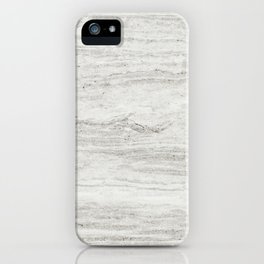 White Gray Marble iPhone Case
