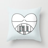 Stormtrooper Character Heart Throw Pillow