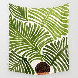 Summer Fern / Simple Modern Watercolor Wall Tapestry