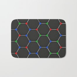 Graphene atomic structure on black Bath Mat