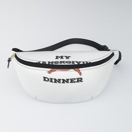 My Thanksgiving Dinner Filipino Food Lechon Grilll graphic Fanny Pack
