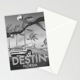 Destin Florida USA Black and white Stationery Cards