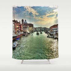 Sunrise on the Grand Canal, Venice Shower Curtain