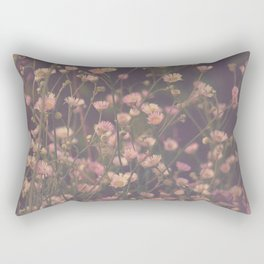 Vintage Asters Daisies Fleabane Wildflowers Rectangular Pillow