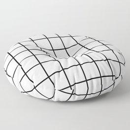 Grid (Black/White) Floor Pillow