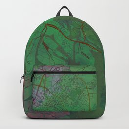 Venice Italy Street Map Green Planet Backpack