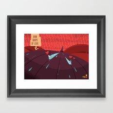 :::Rain drops of love::: Framed Art Print