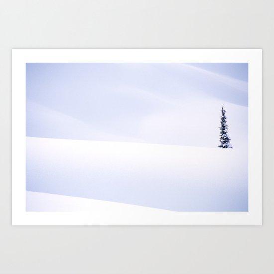 one white Art Print