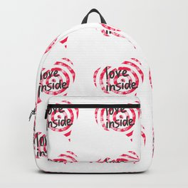 Love inside - Target for Valentine's day with hearts with hearts Backpack