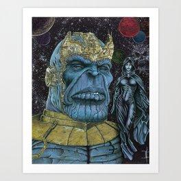 Thanos of Titan Art Print