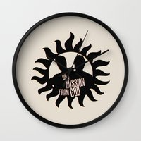 winchester Wall Clocks featuring Winchester Brothers by MadTee