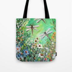 Dragonfly Summer Tote Bag