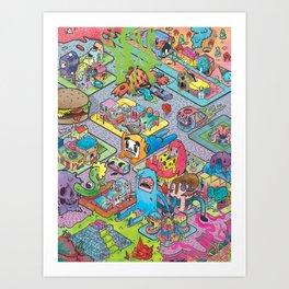 Towny Art Print