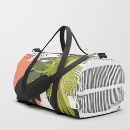 Nature abstract with linear strokes Duffle Bag