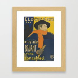 "Henri de Toulouse-Lautrec ""Eldorado: Aristide Bruant"" Framed Art Print"