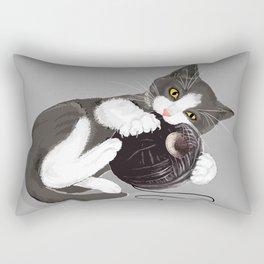 Kitten and Death Star Ball of Yarn Rectangular Pillow