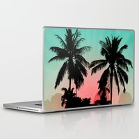 palm trees Laptop & iPad Skins featuring Palm Trees by mark ashkenazi
