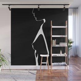 Naked Profile Shadow Wall Mural