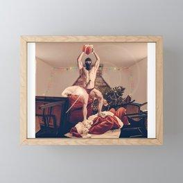 Santa shot down Framed Mini Art Print
