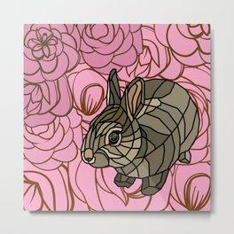 Bella - Mosaic Bunny Metal Print