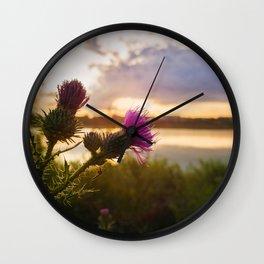 Cirsium vulgare Wall Clock