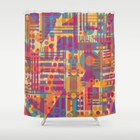 plaid Shower Curtains featuring Mad Plaid by Shelly Bremmer