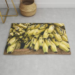 Cuban bananas closeup Rug