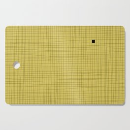 Yellow and Black Grid - Something's missing Cutting Board