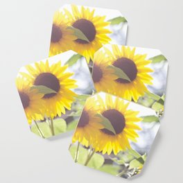 Sunflowers From My Mother-in-law's Garden Coaster