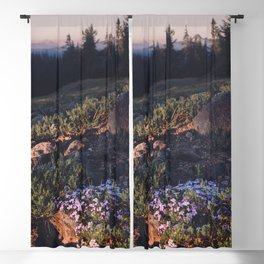 Wildflowers at Dawn - Nature Photography Blackout Curtain