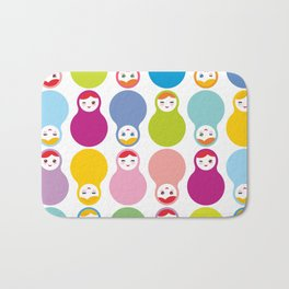 dolls matryoshka on white background Bath Mat
